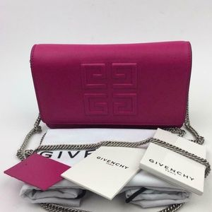 GIVENCHY Embossed Emblem Wallet on a Chain